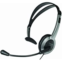 Panasonic KX-TCA60 auricular con micrófono - Auriculares con micrófono (Alámbrico, Monoaural, Diadema, Negro, 2,5 mm)