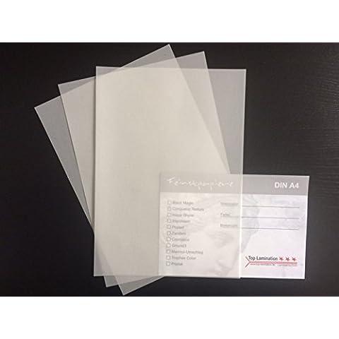 100hojas de papel DIN A3transparente Zanders Spectral Blanco, 100g/m² de Top Lamination–Excelente traspaso, muy buena calidad, para invitaciones, tarjetas de visita, plantilla hojas para álbumes, tarjetas de boda, Póster, manualidades y mucho más