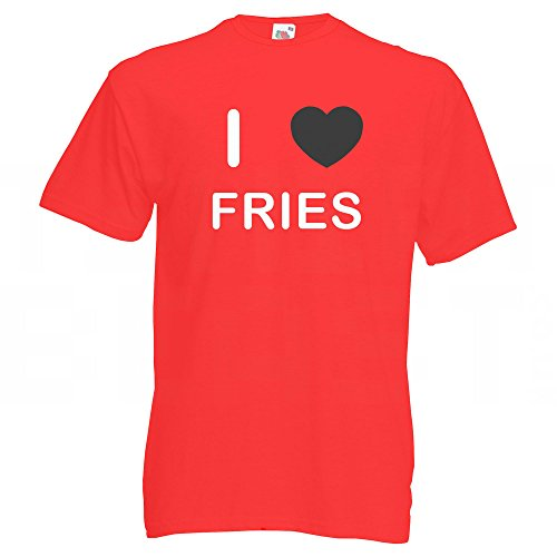 I Love Fries - T-Shirt Rot