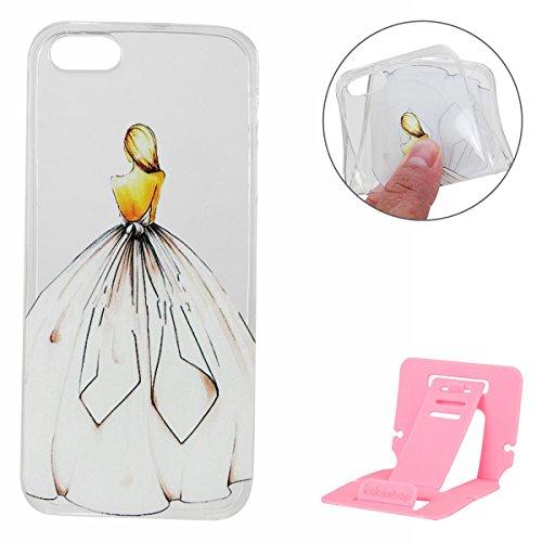 Apple iPhone 6S Hülle,iPhone 6 Silikon TPU Gel Case,Ekakashop Ultra dünn Slim Kreativ Design Durchsichtig Transparent Crystal Klar Flexible Gel Case Schutzhülle Defender Bumper Tasche Hüllen für Apple Zurück