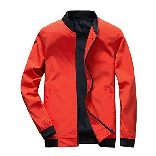 Bad Schaf Kostüm - TAMALLU Herren Outwear Modische Übergröße Einfarbig Cool Langarm Party Tunika(Orange,M(L))