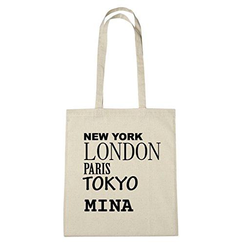JOllify Mina di cotone felpato b5784 schwarz: New York, London, Paris, Tokyo natur: New York, London, Paris, Tokyo