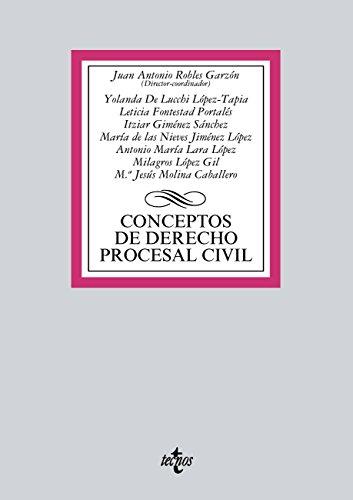 Conceptos de Derecho procesal civil (Derecho - Biblioteca Universitaria De Editorial Tecnos)