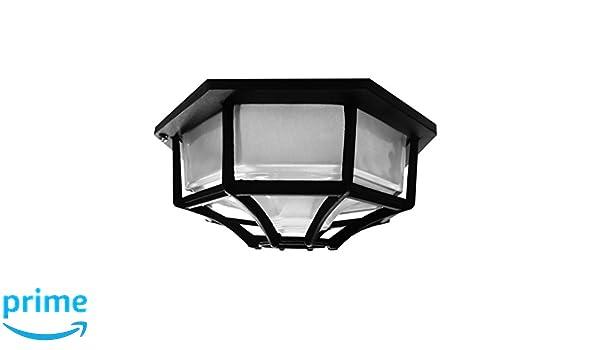 Plafoniere Con Musica : Searchlight 2942bk plafoniera esagonale da parete soffitto nero