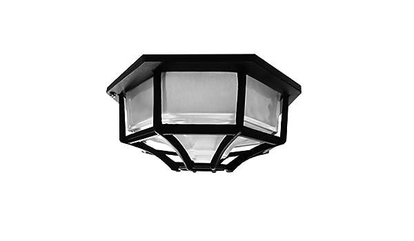 Plafoniere Da Portico : Searchlight bk plafoniera esagonale da parete soffitto nero