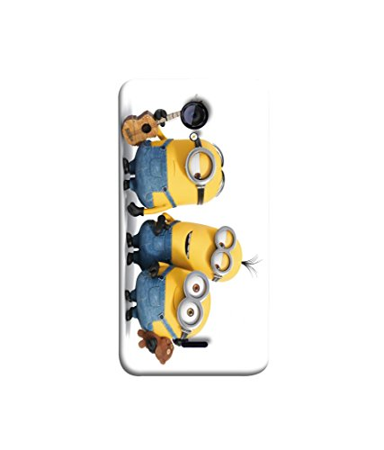 Micromax Unite 2 A106 Guitar Minions Uv Printed Back Cover by Videotronix