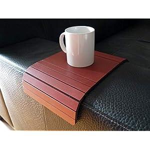 Holz sofa armlehnentisch in vielen farben wie bordeaux rot Armlehnentablett Moderner tisch für couch Klein schleichendes…