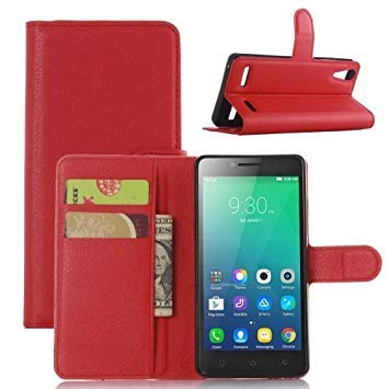 Litchi Texture Horizontal Flip Leather Case for Lenovo A6010 & A6000 Plus, with Wallet & Holder & Card Slots (Red)