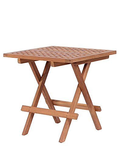 Mr. Deko Teak Beistelltisch Devon - Teak - Tisch - Gartentisch - Outdoormöbel - Teakholz - für Balkon, Terrasse, Wintergarten, Garten -