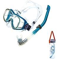 WCYMASK Gafas Y Máscaras, Máscara De Snorkel De 180 °/Plegable/Extraíble/