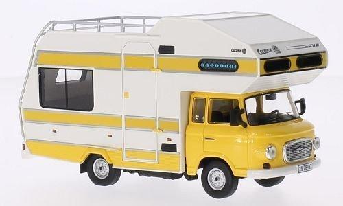Barkas B1000 Wohnmobil, gelb/weiss, 1973, Modellauto, Fertigmodell, IST Models 1:43