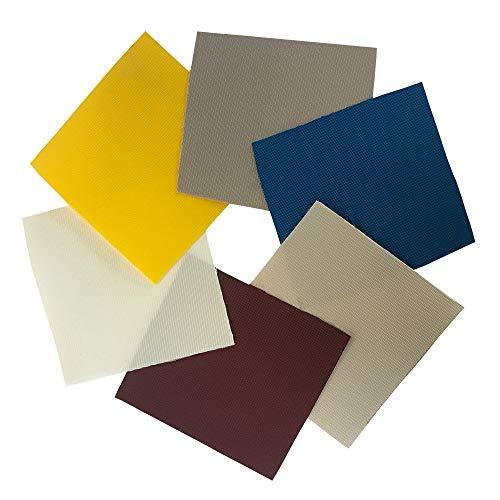 Markisen & Sonnensegeltuch als Meterware | Mit Lichtschutzfaktor & UV-stabilisiert | Für Sonnensegel, Markisen und Paviliondächer | Gewicht 285g/m² | Farbe Gelb | Maße in cm: 1.80 x 13.00