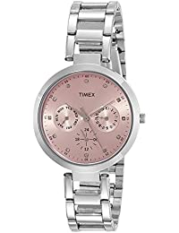 Timex E-Class Analog Pink Dial Women's Watch-TW000X206