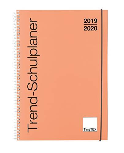 TimeTEX Trend-Schulplaner A4 Lachs - Ringbuch - Schuljahr 2019-2020 - Lehrerkalender - Unterrichtsplaner - Timetex 10582 Lachs-tag