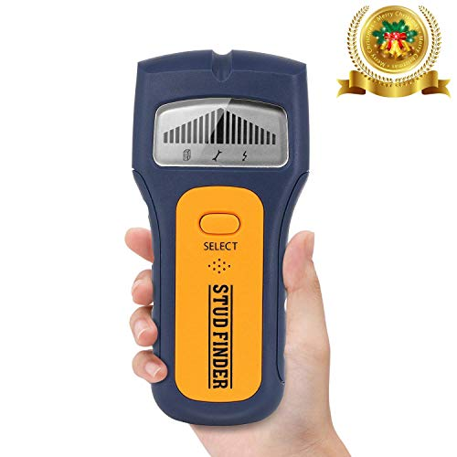 Ortungsgerät, GLTECK 3 IN 1 Multifunktions Tacklife Wand Scanner Detektor Stud finder Leitungssucher für Stromleitung Holz Metall mit Großer LCD Hintergrundbeleuchtung