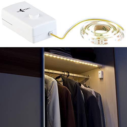 Lunartec LED Streifen Batterie: Indoor-LED-Streifen, 18 LEDs, Schalter, Batteriebetrieb, 160 lm, 60 cm (LED Leiste) -