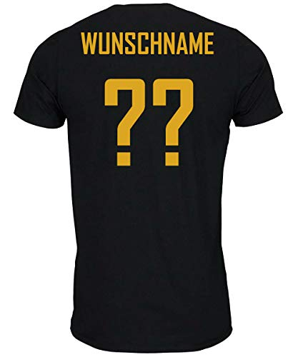 myfashionist Kinder T-Shirt Fußball Trikot WM/EM Deutschland Trikot in Verschiedene Grössen für Jungen und Mädchen mit Wunschname UND Wunschnummer (134/146)