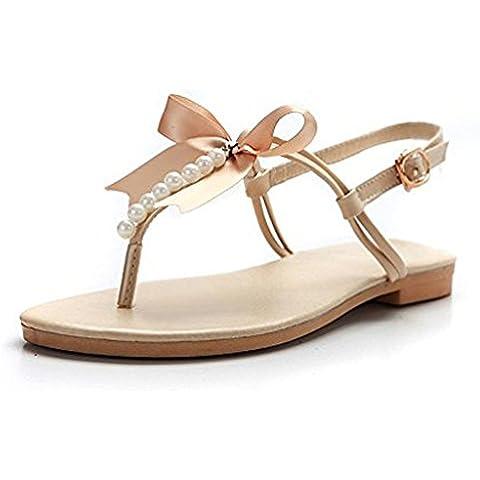 Mine tom Mujeres Niñas Sandalias Verano Playa Zapatos Dulce Del Estilo Moldeada De La Correa Zapatillas Peep Toe Con Bowknot