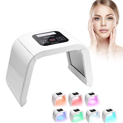 Lámpara de 7 colores LED PDT Photon terapia facial salón cuidado de la piel máquina de tratamiento, reduce eficazmente las arrugas y la relajación, restaura la elasticidad y la piel joven.