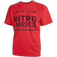 Nitro Snowboards Split Logo Camiseta, Hombre, Rojo, M