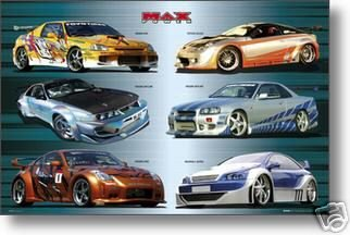 max-power-poster-voitures-nissan-racing-collage-hot-new