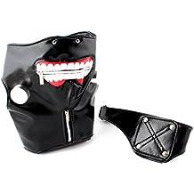 VORCOOL Halloween piel sintética Tokyo Gul Kaneki Ken Cosplay máscara los accesorios ganseur máscara diadema sobre