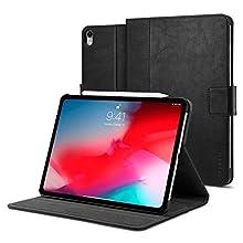 Spigen Stand Folio (Version 2) Designed for Apple iPad Pro 11 Case (2018) - Black