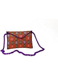 Homeart9 Women's Sling Bag (Embridered Handicraft Traditional Sling Bag,Multi-Coloured)