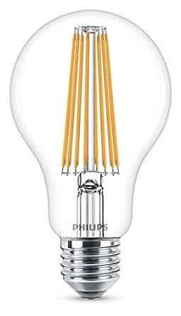 Philips Lampadina LED Classic Goccia , Attacco E27, 11 W Equivalenti a 100 W, 2700 K, Luce Bianca Calda