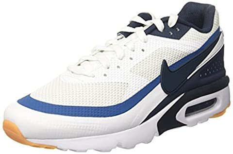 Nike Herren Air Max Bw Ultra Trainer, Elfenbein (White/Armory Navy/Industrial Blue), 45 EU