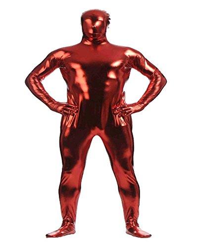Shiny Ganzkörperanzug Ganzkörperanzug Anzug Suit Kostüm Dunkelrot -