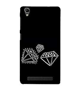 Diamonds Clipart 3D Hard Polycarbonate Designer Back Case Cover for Intex Aqua Power Plus :: Intex Aqua Power +