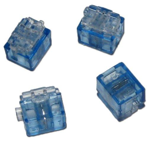 12x Miniatur Abzweigverbinder blau 0,1 bis 0,9 mm²