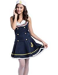 Damen Sexy Sailor Girl Pinup Navy Uniformen Halloween Kost¨¹m