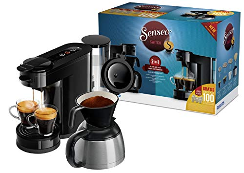 Philips Senseo HD6591/69 Switch 2-in-1 Kaffeemaschine (Sonderedition 100 Pads gratis nach...