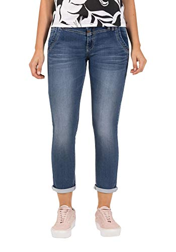 Timezone Damen NaliTZ Slim Jeans, Blau (Blue Denim wash 3041), W27