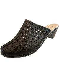 Annabelle Plus Mujer Zuecos Calce Sandalias Pantuflas Zapatos De Tacón