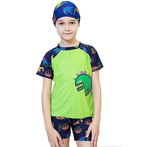 SPQY Kinder Badeanzüge Jungen Kurzarm 3tlg - Kinder Süß Karikatur Schwimmen Kostüm Sonnencreme Kostüm Jungs Badebekleidung 3-15 - Kostüm Für Drei Jungs