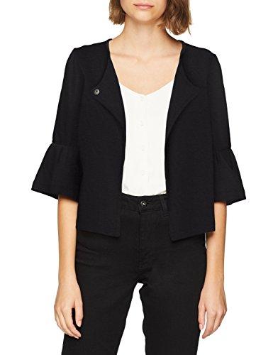 ONLY Damen Anzugjacke onlKAMMA 3/4 Bell Sleeve Blazer CC Swt, Schwarz (Black Detail: Solid), 40 (Herstellergröße: L)