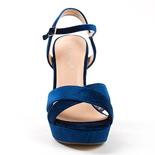 Ideal Shoes ,  Sandali donna Blu