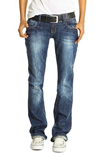 Bestyledberlin Damen Jeans Hosen, Baggyjeans j137p 42/XL, Blau