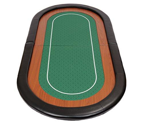 Riverboat Gaming Champion faltbare Pokerauflage mit grünem wasserabweisenden Stoff und Tasche - Pokertisch 180cm - 2