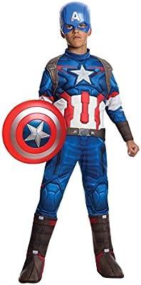 Capitán América - Disfraz deluxe, para niños (Rubies 610425)