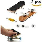 Mini diapasón, Paquete de 2 monopatín profesional de dedo para Tech Deck arce de madera de DIY ensamblaje embarque de embarque de juguete juegos de deportes de regalo de los niños por AumoToo (Blanco)