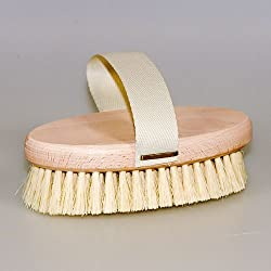 Untreated Beechwood with Tampico Fiber : Brstenhaus Redecker Tampico Fiber Massage Brush with Untreated Beechwood Handle and Belt, 5-3/8-Inches