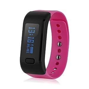 Smart Bracelet Excelvan Oled IP67 Impermeabile Bluetooth 4.0 con pedometro, conta calorie salute, Monitoraggio sonno, Promemoria di chiamata, Remote Capture per Android IOS, RoseRed