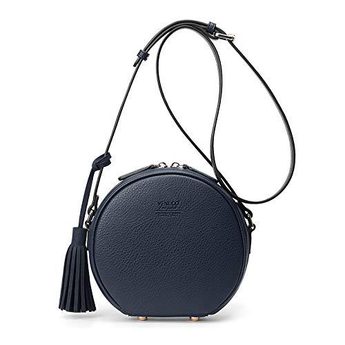 Runde Taschen Umhängetaschen Handtaschen PU-Leder Umhängetasche Umhängetaschen Messenger Chain Bag für Frauen Leder Damen Umhängetasche Casual Work,D -