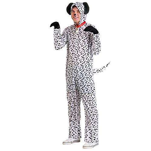 JXILY Kostüm Spotted Dog Romper - - Halloween Weihnachten Cosplay Tier Pyjama Kostüm - Baby/Kind/Erwachsener (Weiß),C,S
