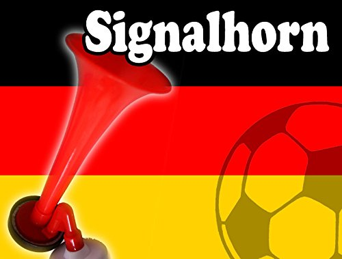 (AIR HORN mit Luftdruck Hand Tröte Fanfare Stadion Hupe Druckluft Signal Fussball)