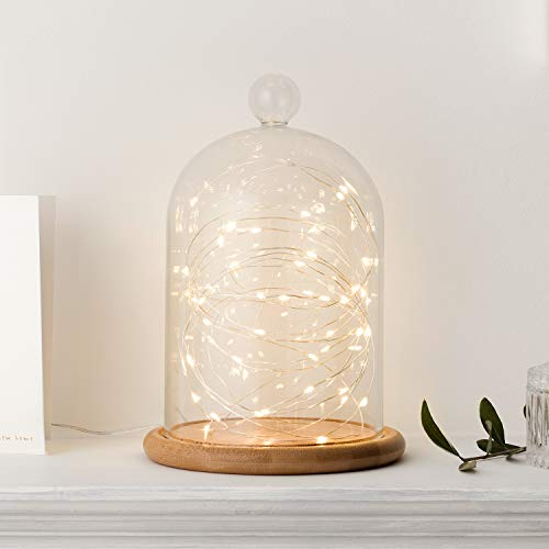 Lights4fun Campana Cristal Alta 21cm Base